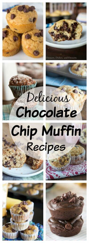 Muffin Recipes with Chocolate Chips - more than just your basic chocolate chip muffins! 20 delicious muffin recipes with chocolate chips that are great for stashing in the freezer!