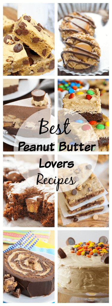 Peanut Butter Lovers Recipes - Over 20 recipes for the peanut butter lover in your life. Decadent desserts, snacks and even dinner. Peanut butter all day, every day!