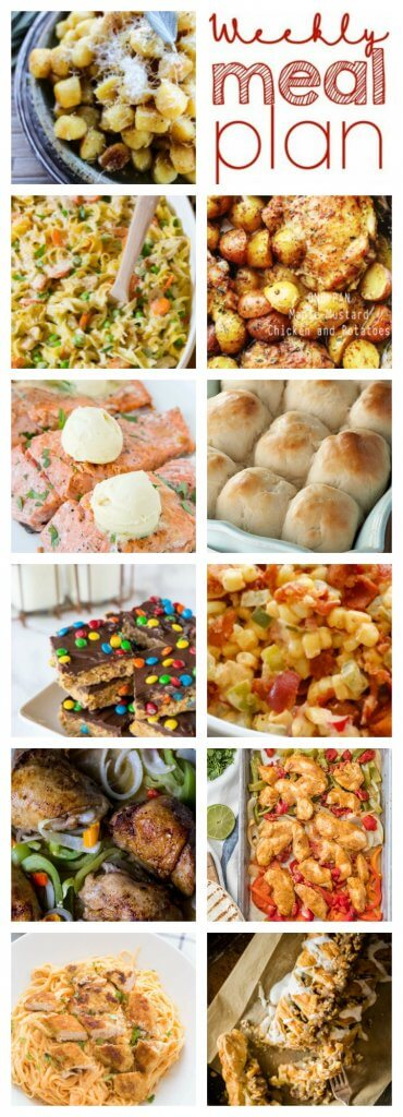 Weekly Meal Plan Week 88 – 11 great bloggers bringing you a full week of recipes including dinner, sides dishes, and desserts!