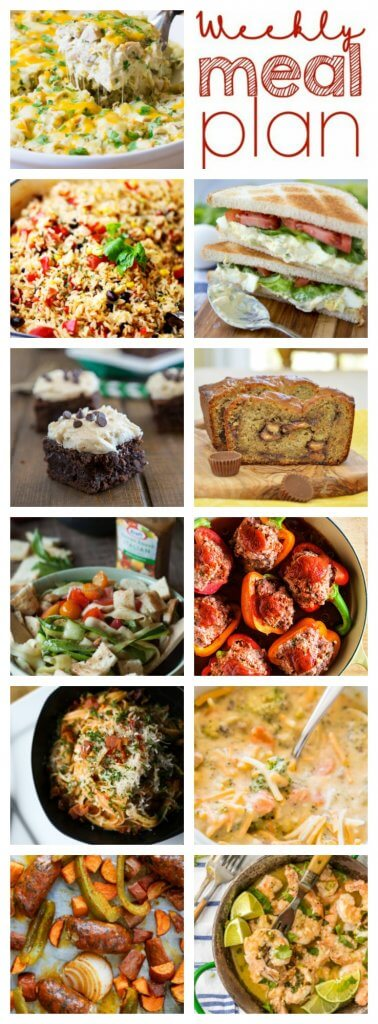 A bunch of different types of food