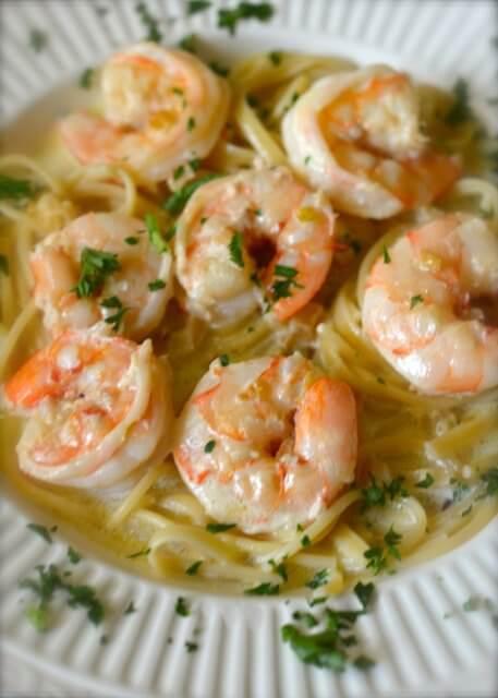 Shells Shrimp and Garlic Pasta {Copycat}