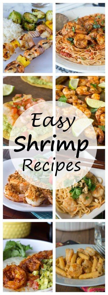 27 Easy Shrimp Recipes - make more shrimp for dinner at home. A round up of 27 of my favorite easy shrimp recipes!