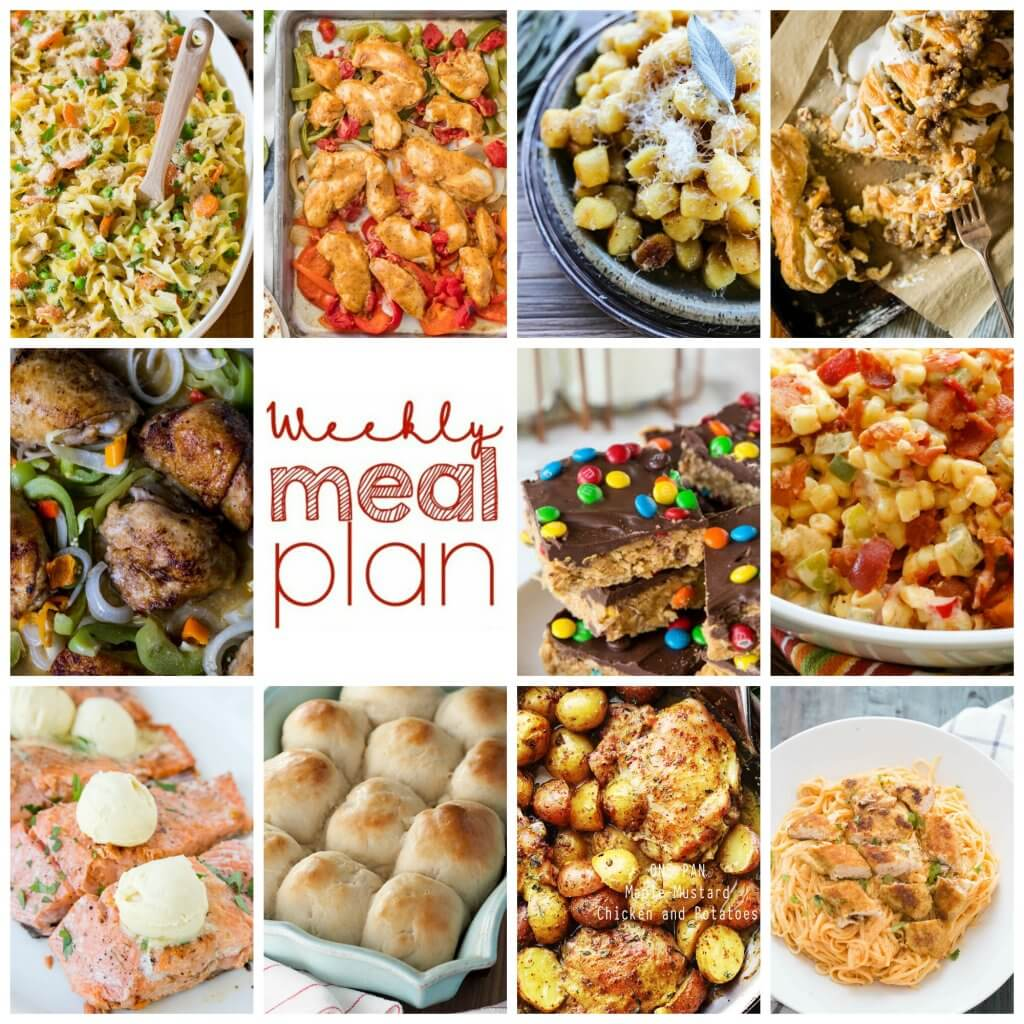 Easy Meal Plan Week 88 – 11 great bloggers bringing you a full week of recipes including dinner, sides dishes, and desserts!