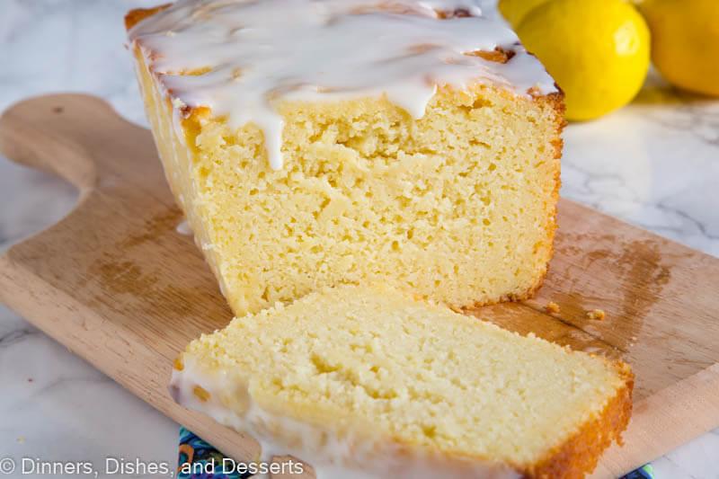 Lemon Ricotta Pound Cake - a dense and super moist lemon pound cake topped with a lemon glaze.