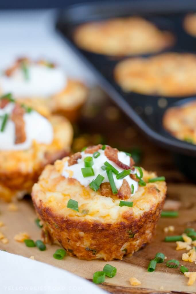 Loaded Mashed Potato Puffs {Yellow Bliss Road}