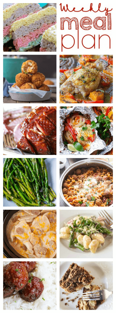 Weekly Meal Plan Week 90 - 11 great bloggers bringing you a full week of recipes including dinner, sides dishes, and desserts!