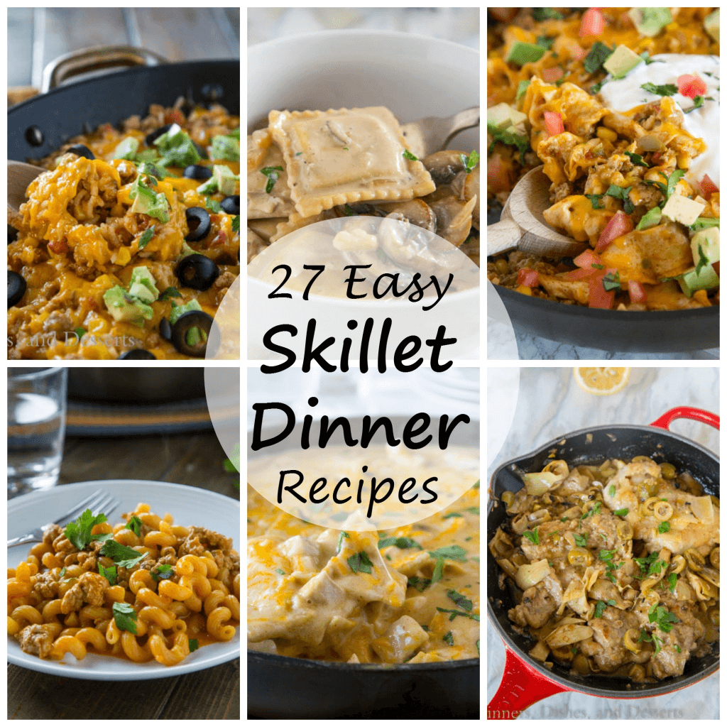 Skillet Dinner Recipes - easy dinner recipes that are cooked in one skillet and is 30 minutes or less! Easy clean up and a happy family!