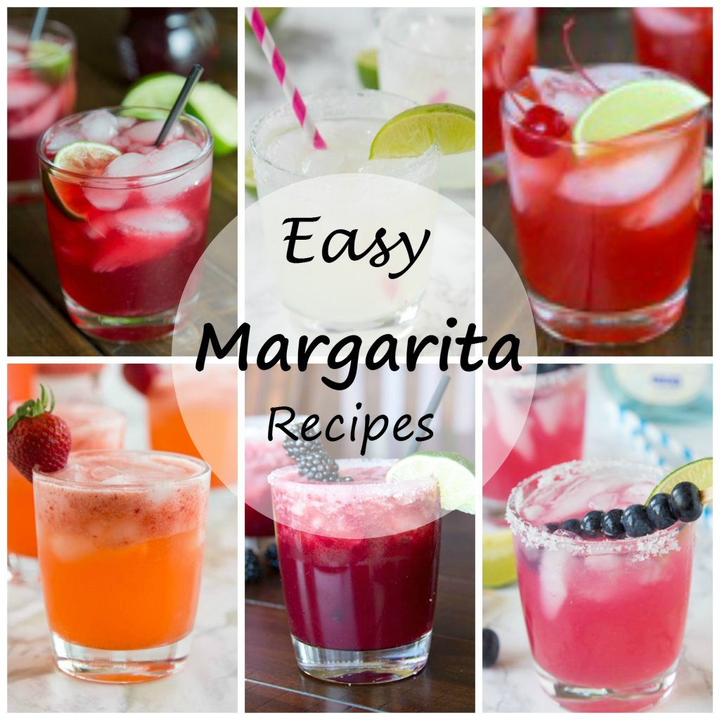 6 Margarita Recipes - get ready for Cinco de Mayo or just happy hour with these great easy margarita recipes! Lots of great flavors to make it different each night!
