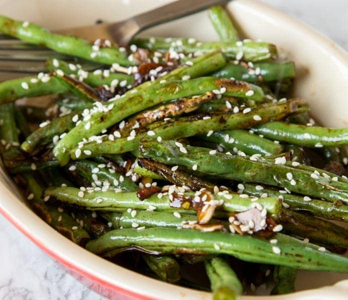 Roasted Green Beans with Sesame and Garlic - Dinners ...