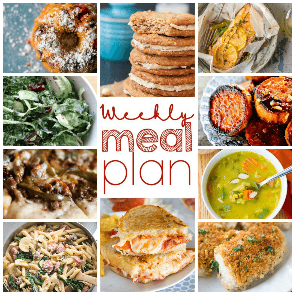 Weekly Meal Plan Week 92 - 10 great bloggers bringing you a full week of recipes including dinner, sides dishes, and desserts!