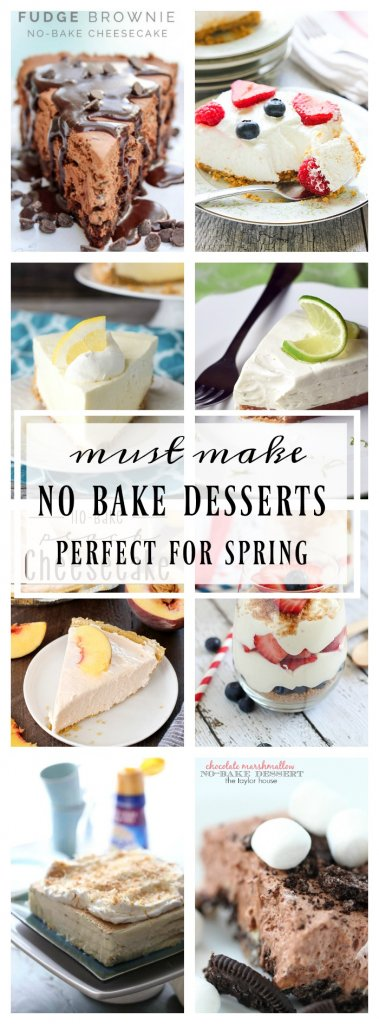 Must Have No Bake Dessert Recipes - 19 no bake desserts you will want to try this summer. These desserts will not heat up your kitchen, but will give you one tasty summer!