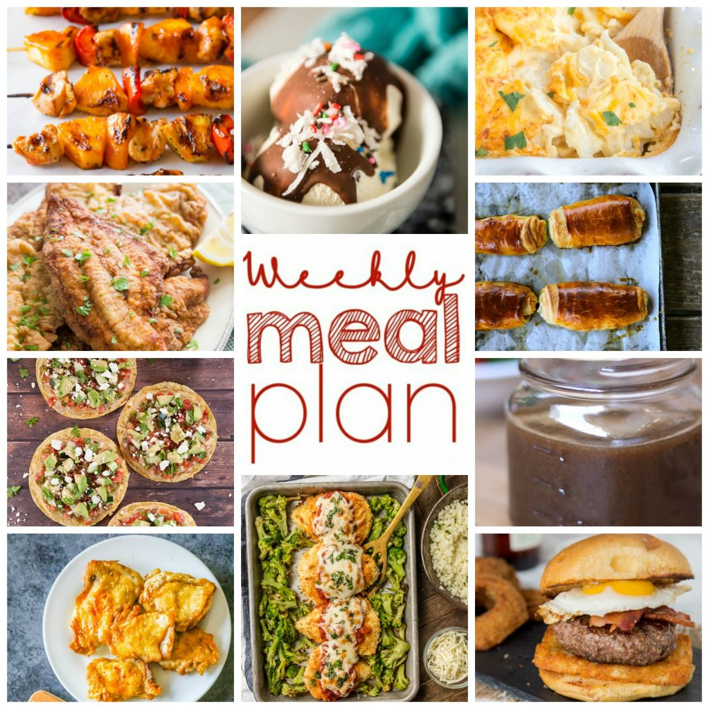 Weekly Meal Plan Week 98 - 10 great bloggers bringing you a full week of recipes including dinner, sides dishes, and desserts!