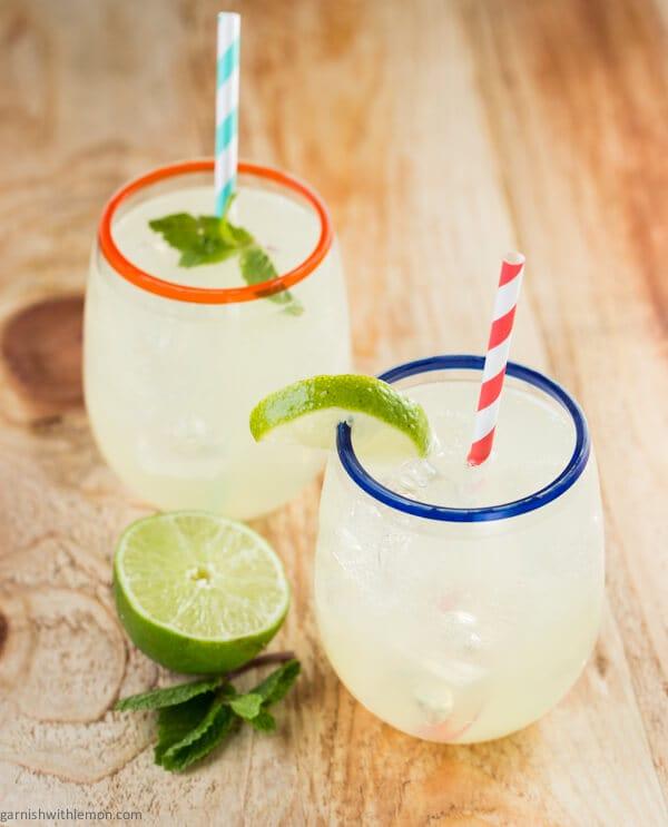 Tequila Mojito {Garnish with Lemon}