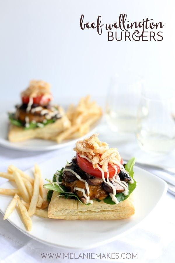 Beef Wellington Burgers {Melanie Makes}