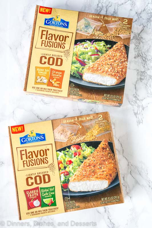 2 box of Gorton\'s fish on a table