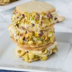 Pistachio Ice Cream Sandwich Cookies