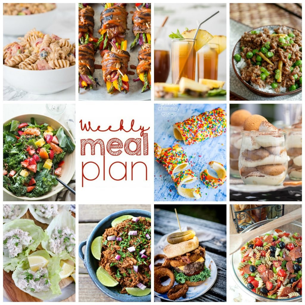 Weekly Meal Plan Week 103 – 10 great bloggers bringing you a full week of recipes including dinner, sides dishes, and desserts!