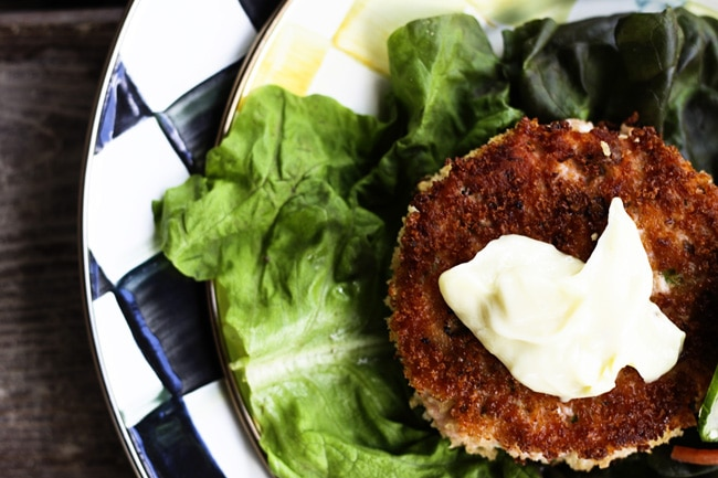 Salmon Burgers with Wasabi Mayo {Foodie with Family}