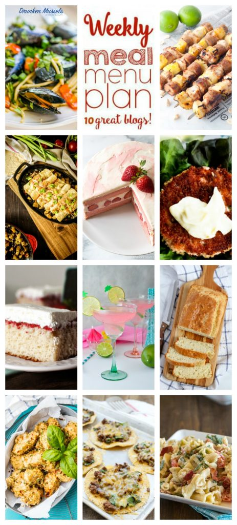 Easy Meal Plan Week 110– 10 great bloggers bringing you a full week of recipes including dinner, sides dishes, and desserts!