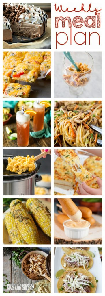 Weekly Meal Plan Week 107– 10 great bloggers bringing you a full week of recipes including dinner, sides dishes, and desserts!