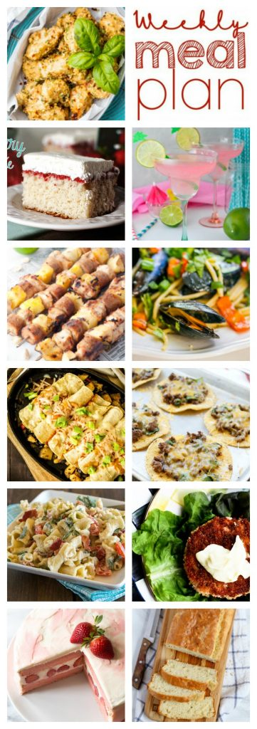A bunch of different types of food, with Lunch