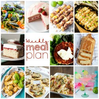 Weekly Meal Plan Week 110– 10 great bloggers bringing you a full week of recipes including dinner, sides dishes, and desserts!