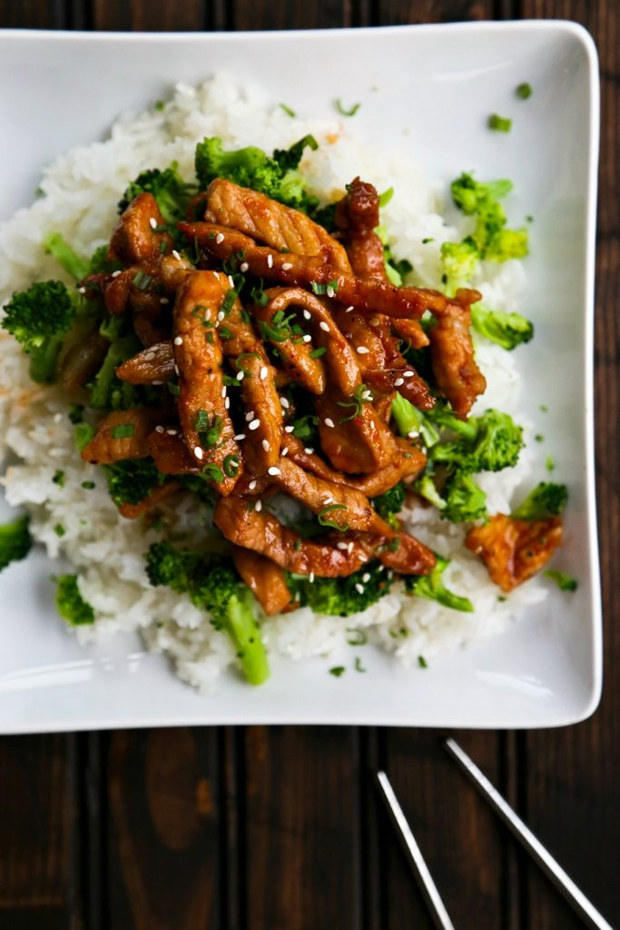 Easy Garlic Ginger Glazed Sticky Pork {Foodie with Family}