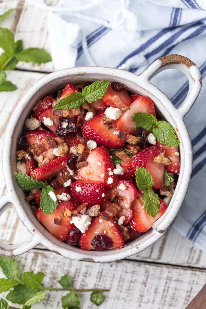 Strawberry Bacon Salad {The Cookie Rookie}