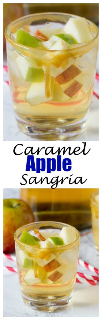 apple sangria in a glass