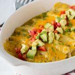 Chicken Enchiladas with Green Chile Sauce