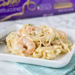 One Pan Fettuccine Alfredo with Shrimp