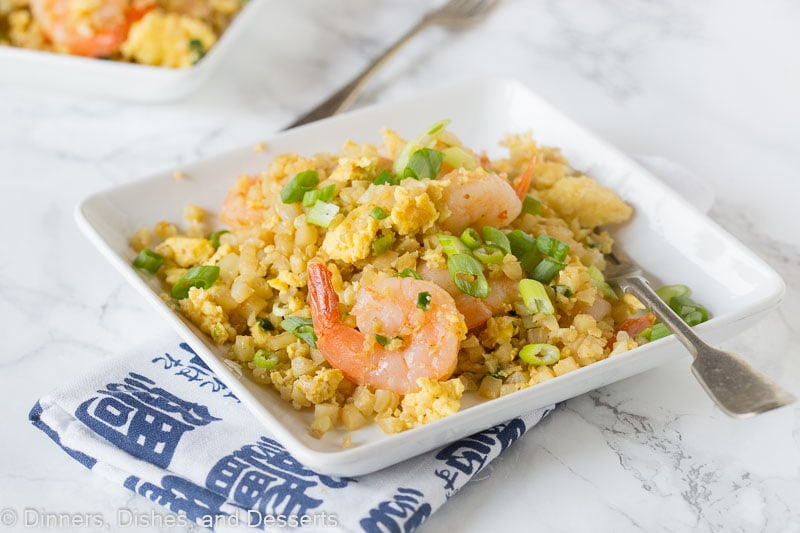 How to make shrimp fried rice with cauliflower