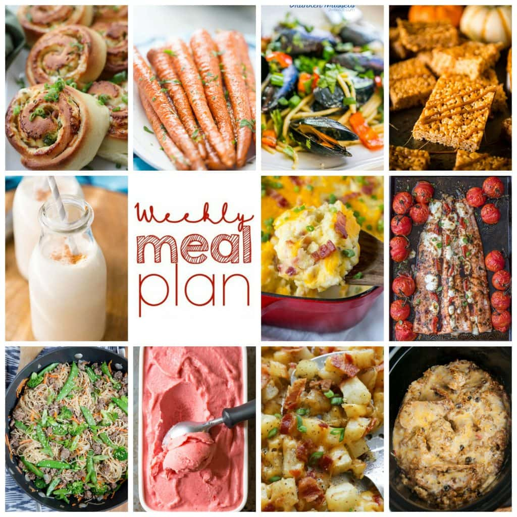 Weekly Meal Plan Week 116– 10 great bloggers bringing you a full week of recipes including dinner, sides dishes, and desserts!