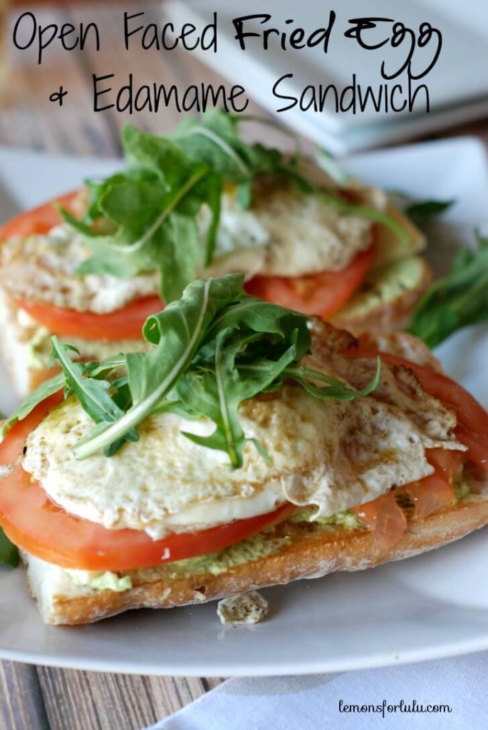 Open Faced Fried Egg Sandwich with Edamame {Lemons for Lulu}