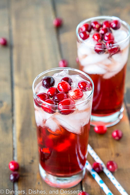 Holiday Wine Spritzer - a white wine spritzer with a holiday twist