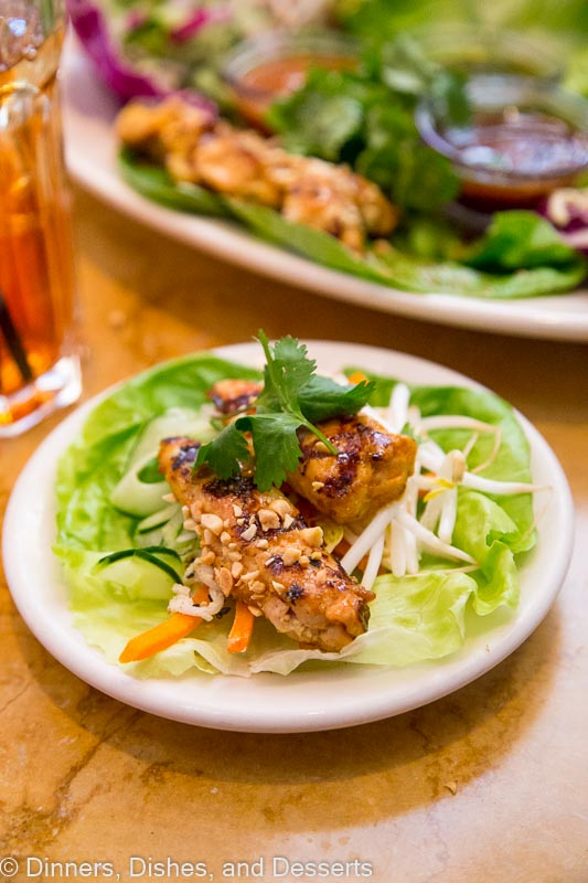 lettuce wraps on a plate