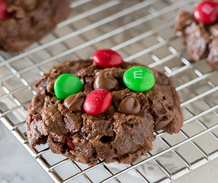 Soft Double Chocolate Chip Cookies