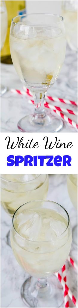 A glass of wine, with Spritzer and Dinner