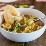 Beef and Noodles Soup