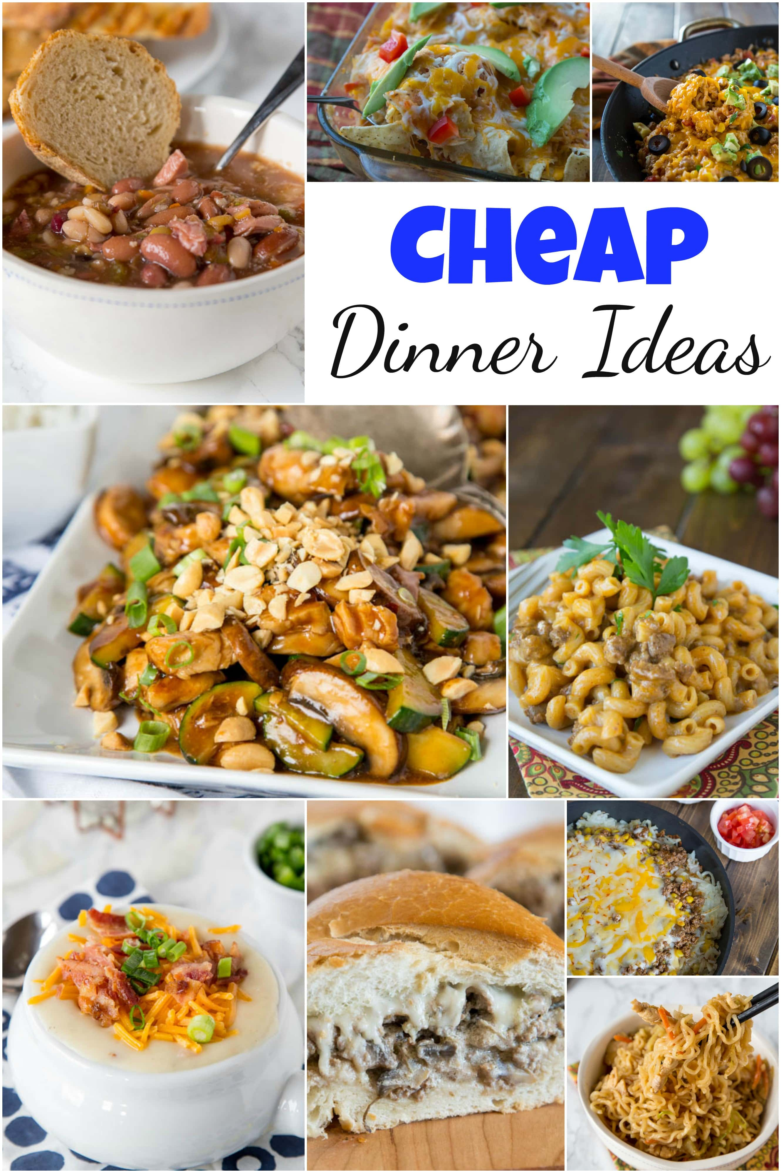 cheap dinner ideas - dinners, dishes, and desserts