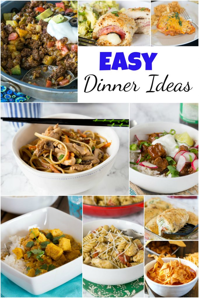 Easy Dinner Ideas - not sure what to make for dinner? Don't want to spend forever cutting, chopping, and  figuring out a recipe?  Here are 20 super easy dinner recipes to get you through the week!