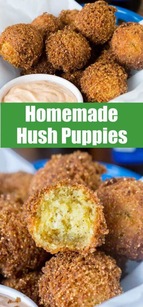 homemade hush puppies in a basket