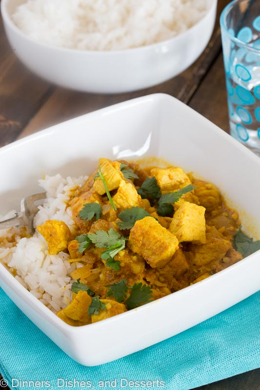 Chicken Curry Recipe - an easy Indian chicken curry you can make in minutes, even on your busiest night!