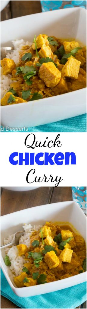 Chicken curry recipe dinners dishes and desserts quick chicken curry recipe an easy indian chicken curry you can make in minutes forumfinder