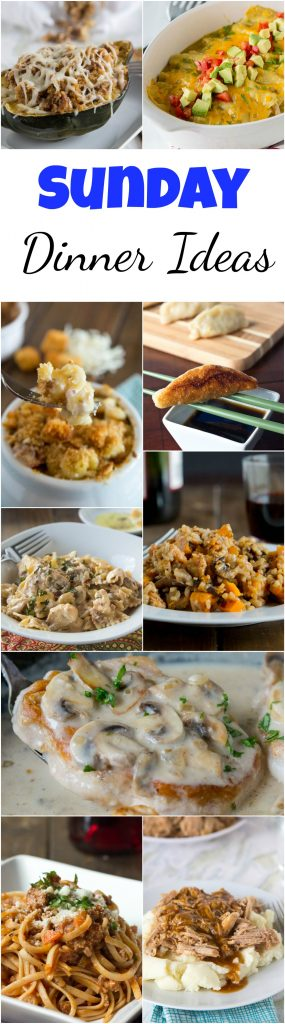 Sunday Dinner Ideas - the weekend is for special dinners, taking a little bit more time in the kitchen, and making something together as a family.  Here are 20 of my favorite Sunday dinner recipes. #dinner #dinnerideas #dinnerrecipes #sundaysupper #sundaydinner #cooking #food #recipes