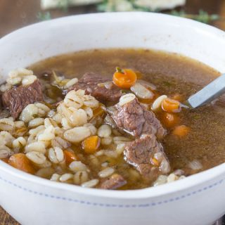 Beef Barley Soup Recipe - such a hearty and comforting soup. Make in the crock pot or Instant Pot for a great dinner any night of the week.