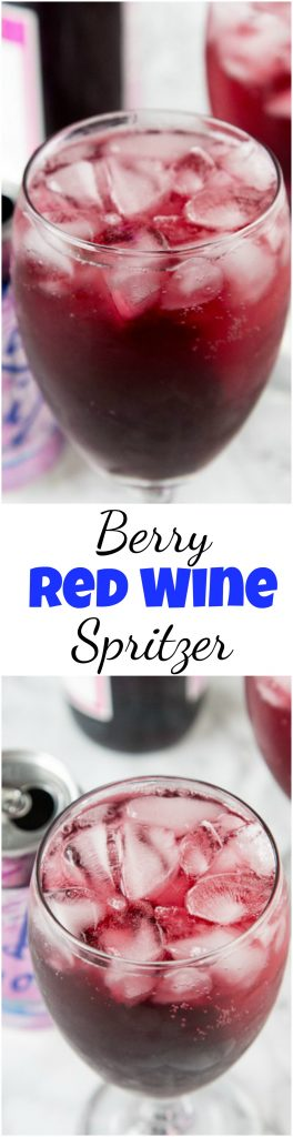 Berry Red Wine Spritzer collage