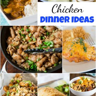 Chicken Dinner Ideas - mix up your chicken dinner with one of these 20 new and tasty chicken dinner ideas. Asian, Mexican, Indian and more - anything but boring, but still quick and easy!
