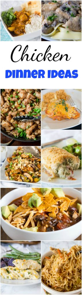 Chicken Dinner Ideas - mix up your chicken dinner with one of these 20 new and tasty chicken dinner ideas.  Asian, Mexican, Indian and more - anything but boring, but still quick and easy! #chicken #dinner #recipe #dinnerideas #easydinners