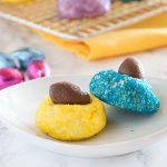 Mini Chocolate Egg Blossom Cookies